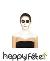 Kit de maquillage squelette néon, réagit aux UV, image 1