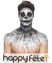 Kit de maquillage squelette néon, réagit aux UV, image 11
