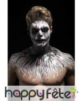 Kit de maquillage squelette néon, réagit aux UV, image 12