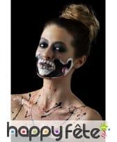 Kit de maquillage squelette néon, réagit aux UV, image 13