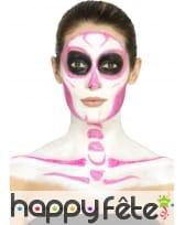 Kit de maquillage squelette néon, réagit aux UV, image 2