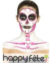 Kit de maquillage squelette néon, réagit aux UV, image 3