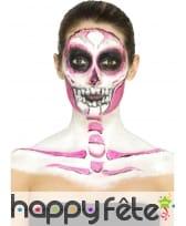 Kit de maquillage squelette néon, réagit aux UV, image 4