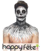 Kit de maquillage squelette néon, réagit aux UV, image 15