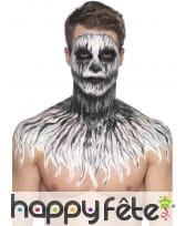 Kit de maquillage squelette néon, réagit aux UV, image 7