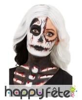 Kit de maquillage squelette pour adulte