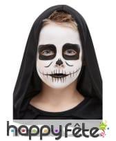 Kit de maquillage squelette pour enfant
