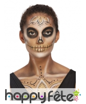Kit de maquillage visage Day of the dead doré, image 2