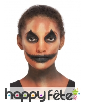 Kit de maquillage visage de citrouille halloween, image 2