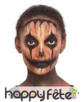 Kit de maquillage visage de citrouille halloween, image 3