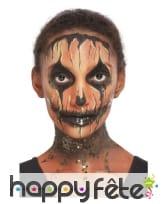 Kit de maquillage visage de citrouille halloween, image 4