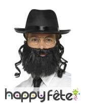 Kit de rabbin chapeau, barbe et accessoires