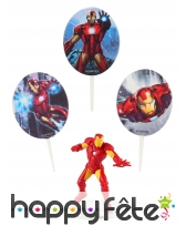 Kit Iron Man de décorations de gâteaux