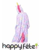 Kigurumi licorne coloris pastels pour adulte, image 1