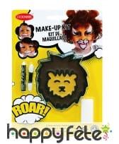 Kit maquillage de lion pour enfant