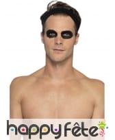 Kit maquillage de squelette noir et blanc au latex, image 1
