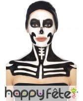 Kit maquillage de squelette noir et blanc au latex, image 10