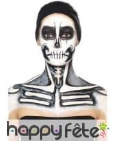 Kit maquillage de squelette noir et blanc au latex, image 11