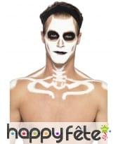 Kit maquillage de squelette noir et blanc au latex, image 2