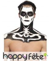 Kit maquillage de squelette noir et blanc au latex, image 3