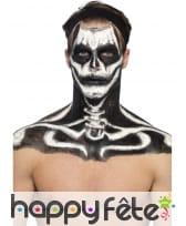 Kit maquillage de squelette noir et blanc au latex, image 4