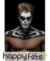 Kit maquillage de squelette noir et blanc au latex, image 5
