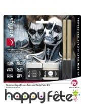 Kit maquillage de squelette noir et blanc au latex, image 6