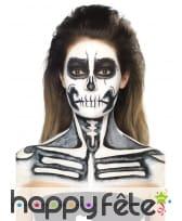 Kit maquillage de squelette noir et blanc au latex, image 7