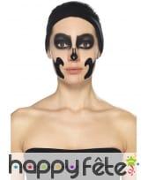 Kit maquillage de squelette noir et blanc au latex, image 8