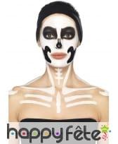 Kit maquillage de squelette noir et blanc au latex, image 9