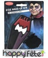 Kit maquillage de vampire assoiffé pour enfant