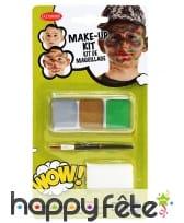 Kit maquillage militaire pour enfant