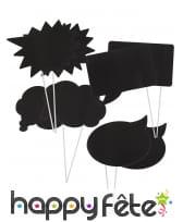 Kit photobooth bulles de BD personnalisables