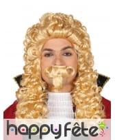 Kit perruque et moustache de Marquis blond adulte