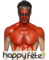 Kit pour maquillage de diable rouge au latex, image 5