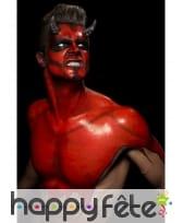 Kit pour maquillage de diable rouge au latex, image 6