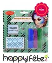 Kit pour maquillage de sirène