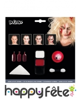 Kit pour maquillage de zombie avec faux sang, image 1