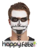 Kit pour maquillage visage de squelette pailleté, image 2