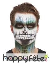 Kit pour maquillage visage de squelette pailleté, image 4