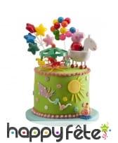 Kit Peppa Pig pour décorations de gâteaux, image 1