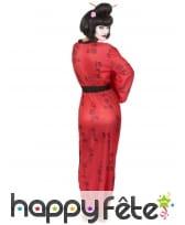 Kimono rouge de geisha imprimés calligraphie, image 2
