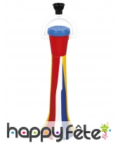 Klaxon rayé multicolore pour clown de 40 cm
