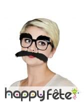 Lunette avec grosses moustaches sur chainette