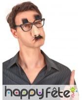 Lunette avec nez et moustache attaché, image 1