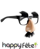 Lunette avec nez et moustache attaché, image 2