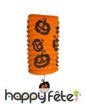 Lanterne à suspension Halloween en papier, 22cm