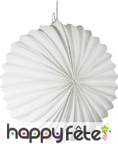 Lampion ballon blanc