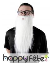 Longue barbe blanche de 65cm
