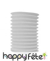 Lampion blanc cylindrique de 16/26 cm